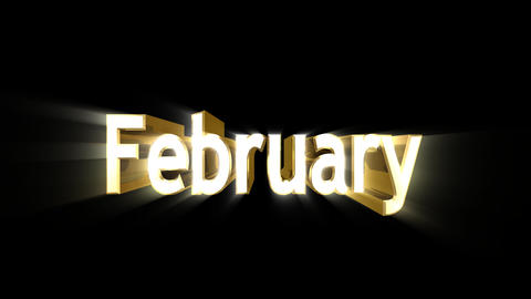 Months 02 February a Stock Video Footage
