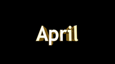 Months 04 April a Stock Video Footage