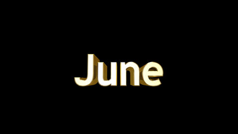 Months 06 June a Stock Video Footage