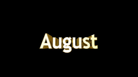Months 08 August a Stock Video Footage