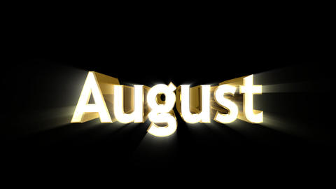 Months 08 August a Animation