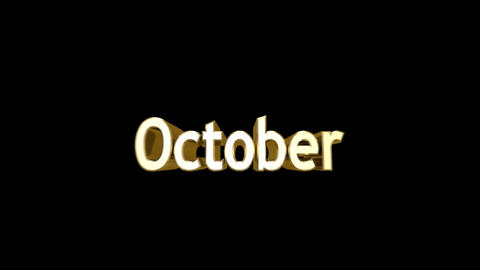 Months 10 October a Stock Video Footage