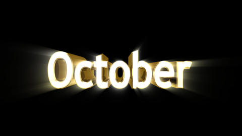 Months 10 October a Animation