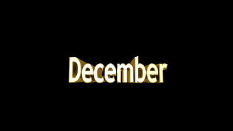 Months 12 December a Stock Video Footage