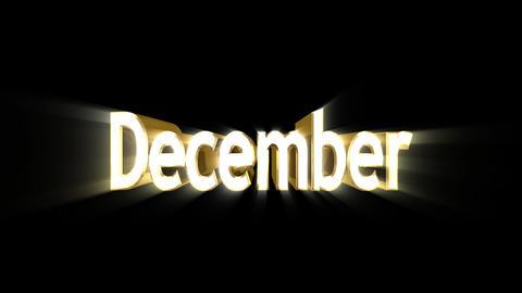 Months 12 December a Stock Video Footage