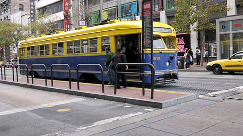 Tramway in SanFrancisco Stock Video Footage