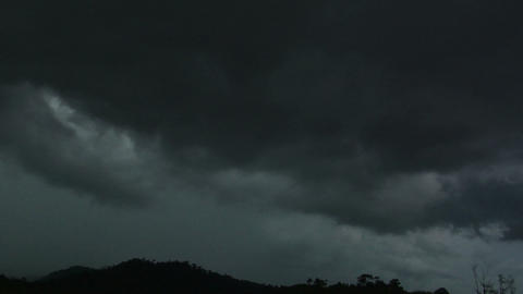 extreme dark storm clouds time lapse Stock Video Footage