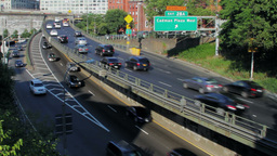 Brooklyn Queens Expressway, New York City street t Footage