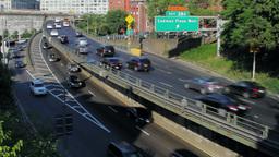 Brooklyn Queens Expressway, New York City street t Stock Video Footage