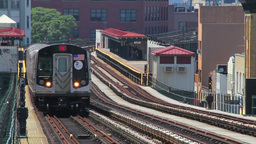 Metro Train Passing. New York City Station Stock Video Footage