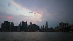 New York Skyline Time-lapse Stock Video Footage
