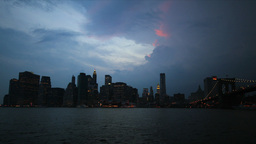 New York Skyline Time-lapse Stock Video Footage