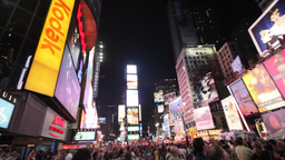New York City Times Square Stock Video Footage