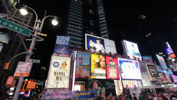 Pan Over Times Square, New York City Stock Video Footage