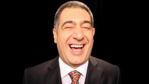 Happy businessman laughing, emotion, enjoyment Stock Video Footage