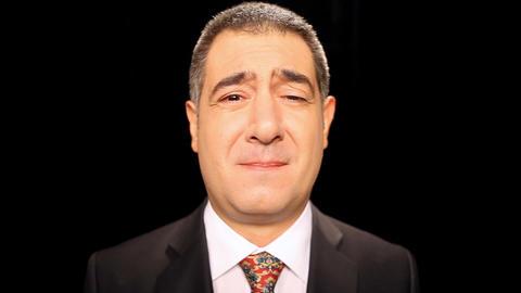 Sad businessman crying, emotion, sadness Footage