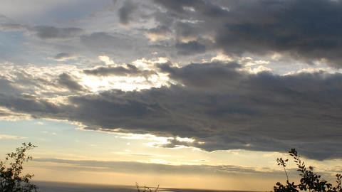 Sunset over the black sea. Timelapse clip Stock Video Footage