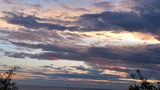 Sunset Over The Black Sea. Timelapse Clip stock footage