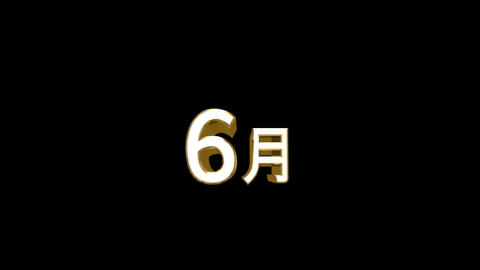 Months 06 J HD Stock Video Footage
