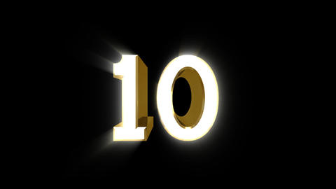 Number 10 E HD Animation