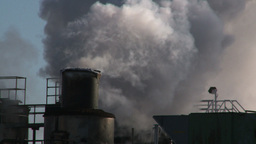 HD2008-winter-2 smoke stacks cold Stock Video Footage