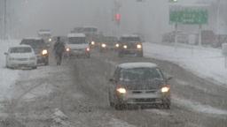 HD2008-12-7-1 snow traffic Footage