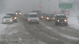 HD2008-12-7-1 snow traffic Stock Video Footage