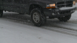 HD2008-12-7-3 snow traffic Stock Video Footage