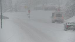 HD2008-12-7-9 snow traffic Stock Video Footage