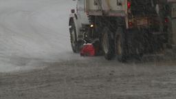snow traffic snowplow Stock Video Footage