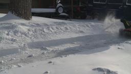 HD2008-12-7-23 snowblower Stock Video Footage