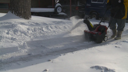 HD2008-12-7-23 snowblower Stock Video Footage