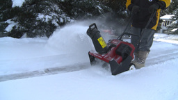 HD2008-12-7-25 snowblower Stock Video Footage