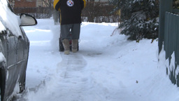 HD2008-12-7-27 snowblower Stock Video Footage