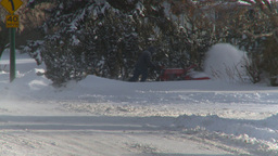 HD2008-12-7-35 snowblower Stock Video Footage
