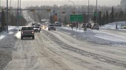 HD2008-12-7-37 snow traffic Stock Video Footage
