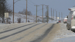 HD2008-12-7-39 snow traffic Stock Video Footage