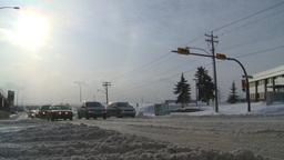 HD2008-12-7-41 snow traffic Stock Video Footage