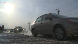 HD2008-12-7-41 snow traffic Stock Video Footage