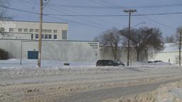 HD2008-12-7-43 snow traffic Stock Video Footage