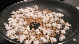Corn cooking in super slow motion Footage