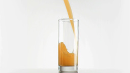 Mango juice being poured in super slow motion Stock Video Footage