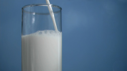 Fresh milk flowing in super slow motion Footage