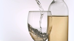 Wine been poured in super slow motion Footage