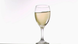 White wine turning in super slow motion Footage