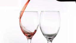 Wine and water poured in super slow motion Stock Video Footage