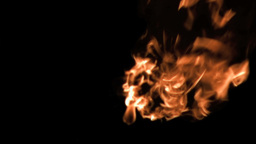Flames moving in super slow motion Footage