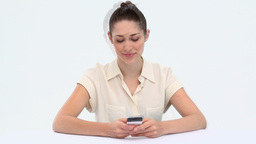 Young woman sending text messages Footage