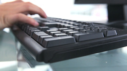 Close up on someoness hands typing on a keyboard Stock Video Footage