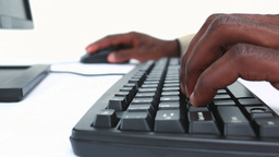 Close up of hands typing on keyboard Footage